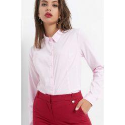 Taliowana koszula w prążki. Brązowe koszule damskie marki Orsay, s, z dzianiny. Za 89,99 zł.