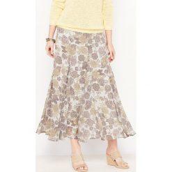 Długie spódnice: Wzorzysta spódnica z gniecionego woalu