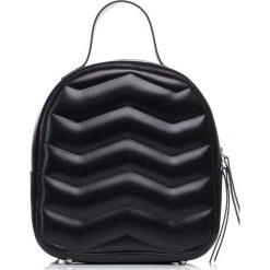 Plecaki damskie: Czarna Stylowy i Praktyczny Plecak z Pikowaniem