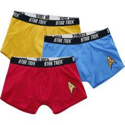 Star Trek Logo Bokserki niebieski/czerwony/żółty. Czarne bokserki męskie marki Black Premium by EMP. Za 99,90 zł.