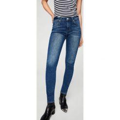Mango - Jeansy Olivia. Niebieskie jeansy damskie rurki Mango. Za 159,90 zł.