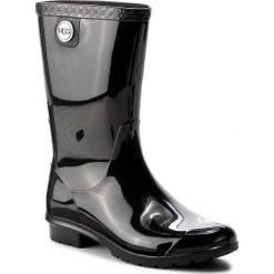 Kalosze UGG - W Sienna 1014452 W/Blk. Szare buty zimowe damskie marki Ugg, z materiału, z okrągłym noskiem. W wyprzedaży za 269,00 zł.