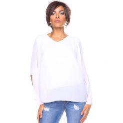 """Bluzki asymetryczne: Bluzka """"Lee"""" w kolorze białym"""