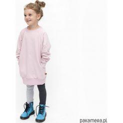 TUNIKA - puder. Szare sukienki dziewczęce z falbanami Pakamera, z bawełny. Za 89,00 zł.