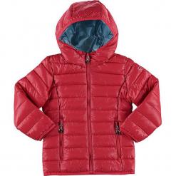 Kurtka zimowa w kolorze czerwonym. Czerwone kurtki dziewczęce przeciwdeszczowe marki CMP Kids, na zimę, z materiału. W wyprzedaży za 122,95 zł.