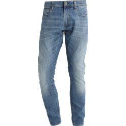GStar 3301 DECONSTRUCTED SUPER SLIM Jeans Skinny Fit aiden stretch denim. Czerwone jeansy męskie marki G-Star, l, z napisami. W wyprzedaży za 375,20 zł.
