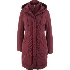 Płaszcz ocieplany bonprix czerwony klonowy. Czerwone płaszcze damskie bonprix. Za 239,99 zł.