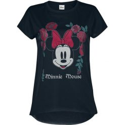 Myszka Miki i Minnie Minnie Mouse - Floral Koszulka damska czarny. Czarne bluzki damskie Myszka Miki i Minnie, xxl, z motywem z bajki, z materiału, z okrągłym kołnierzem. Za 134,90 zł.