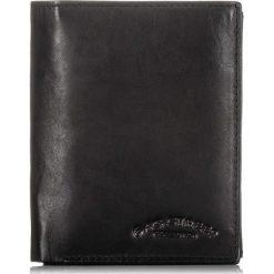 Czarny SKÓRZANY PORTFEL MĘSKI BAG STREET. Czarne portfele męskie marki Bag Street, z materiału. Za 49,00 zł.