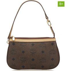 Torebki klasyczne damskie: Skórzana torebka w kolorze brązowym – 13 x 21 x 1 cm