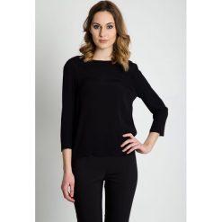 Czarna bluzka z rękawem 3/4 BIALCON. Czarne bluzki asymetryczne BIALCON, uniwersalny, eleganckie. Za 185,00 zł.