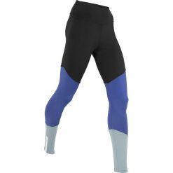 Legginsy we wzory: Legginsy do biegania, długie, LEVEL 3 bonprix czarno-szafirowo-srebrnoszary