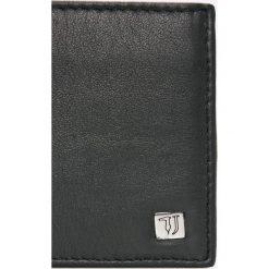 Trussardi Jeans - Portfel skórzany. Czarne portfele męskie Trussardi Jeans, z jeansu. W wyprzedaży za 259,90 zł.