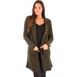 Swetry damskie: Kardigan w kolorze khaki
