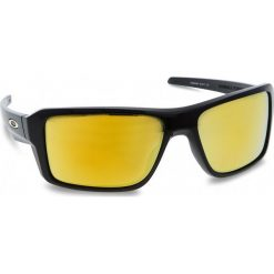 Okulary przeciwsłoneczne OAKLEY - Double Edge OO9380-0266 Polished Black/24k Iridium. Czarne okulary przeciwsłoneczne męskie aviatory Oakley, z tworzywa sztucznego. W wyprzedaży za 479,00 zł.
