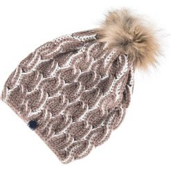 83-HF-009-4 Czapka damska. Brązowe czapki zimowe damskie Wittchen, z materiału. Za 69,00 zł.