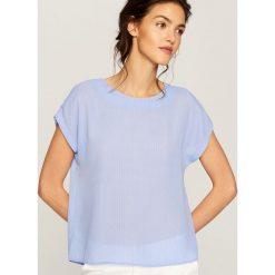 T-shirty damskie: T-shirt we wzory – Turkusowy