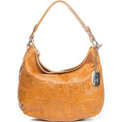 Torebki klasyczne damskie: Skórzana torebka w kolorze jasnobrązowym – 27 x 23 x 12 cm