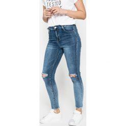Answear - Jeansy. Szare jeansy damskie rurki marki G-Star RAW, z obniżonym stanem. W wyprzedaży za 99,90 zł.