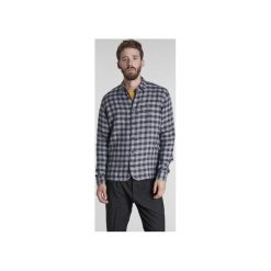 Koszula Strong w Kratkę. Niebieskie koszule męskie na spinki marki Delikatessen, l, w kratkę, z włoskim kołnierzykiem. Za 640,00 zł.