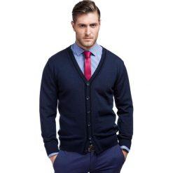 Sweter IGNAZIO SWG000046. Czarne swetry rozpinane męskie Giacomo Conti, m, z wełny, eleganckie. Za 299,00 zł.