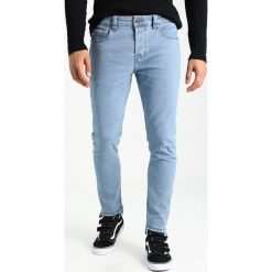 Only & Sons ONSWARP RAW EDGE Jeans Skinny Fit light blue denim. Brązowe jeansy męskie marki Only & Sons, l, z poliesteru. Za 129,00 zł.