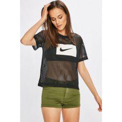 Nike Sportswear - Top. Szare topy damskie Nike Sportswear, l, z nadrukiem, z poliesteru, z okrągłym kołnierzem. W wyprzedaży za 99,90 zł.