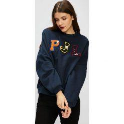 Pepe Jeans - Bluza Siena. Szare bluzy z nadrukiem damskie marki Pepe Jeans, m, z jeansu, z okrągłym kołnierzem. Za 279,90 zł.