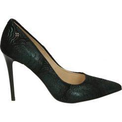 Czółenka - 4700 PRC101 N. Czarne buty ślubne damskie Venezia, ze skóry. Za 319,00 zł.
