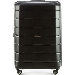 Walizka duża 56-3T-723-10. Czarne walizki Wittchen, z gumy, duże. Za 249,00 zł.