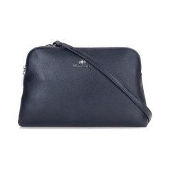 Torebki klasyczne damskie: Skórzane torebka w kolorze granatowym – (S)26 x (W)21 x (G)5 cm