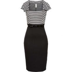 Sukienki hiszpanki: Sukienka biznesowa bonprix czarno-biały