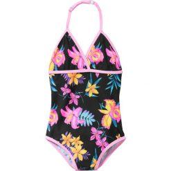 Odzież dziecięca: Kostium kąpielowy dziewczęcy bonprix czarny z nadrukiem