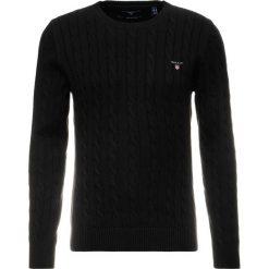 GANT CABLE CREW Sweter black. Niebieskie swetry klasyczne męskie marki GANT. Za 589,00 zł.