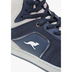 KangaROOS KBASKLED II Tenisówki i Trampki wysokie blue/vapor grey. Niebieskie tenisówki męskie KangaROOS, z materiału. W wyprzedaży za 161,85 zł.
