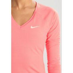 Nike Performance PURE Koszulka sportowa lava glow/white. Czerwone topy sportowe damskie marki Nike Performance, s, z elastanu, z długim rękawem. Za 199,00 zł.