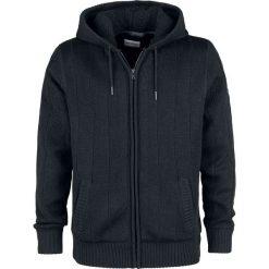 Shine Original Tulsa - Boa Hooded Knit Bluza z kapturem rozpinana czarny. Czarne bluzy męskie rozpinane Shine Original, l, z dzianiny, z kapturem. Za 244,90 zł.