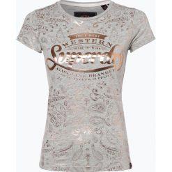Superdry - T-shirt damski, szary. Szare t-shirty damskie Superdry, xl, z nadrukiem. Za 149,95 zł.
