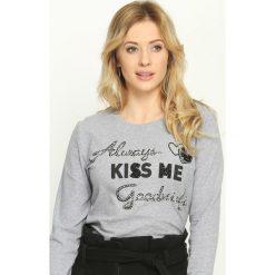 Bluzki asymetryczne: Szara Bluzka Always Kiss