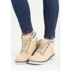 Beżowe Traperki Fashion Casual. Brązowe buty zimowe damskie marki NEWFEEL, z gumy. Za 89,99 zł.