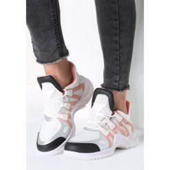 Biało-Różowe Sneakersy Life Must Go On. Białe sneakersy damskie other, z materiału. Za 109,99 zł.