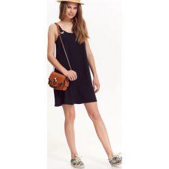 LUŹNA SUKIENKA Z EYELETAMI PRZY RAMIĄCZKACH. Szare sukienki na komunię marki Top Secret, na imprezę, na lato, na ramiączkach. Za 39,99 zł.