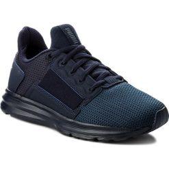 Sneakersy PUMA - Enzo Street Jr 190685 02 Peacoat/Peac/Sargasso Sea. Niebieskie trampki chłopięce marki Puma, z materiału, na sznurówki. Za 269,00 zł.