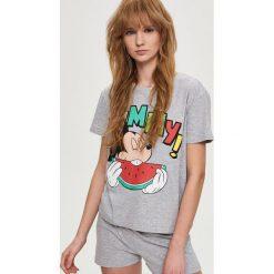 Piżamy damskie: Piżama z nadrukiem mickey mouse – Jasny szar