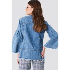 NA-KD Kurtka dżinsowa z szerokim rękawem - Blue. Niebieskie kurtki damskie NA-KD. W wyprzedaży za 129,58 zł.
