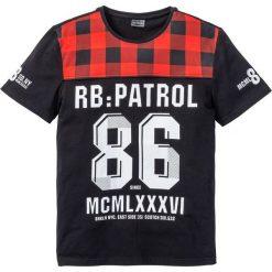 T-shirty męskie z nadrukiem: T-shirt Regular Fit bonprix czarny z nadrukiem