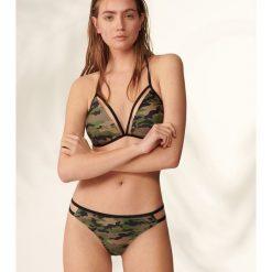 Stroje dwuczęściowe damskie: Bikini z wzorem camo – Khaki