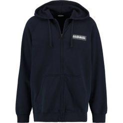 Napapijri BUKA FULL Bluza rozpinana blu marine. Szare bluzy męskie rozpinane marki Napapijri, l, z materiału, z kapturem. W wyprzedaży za 399,20 zł.