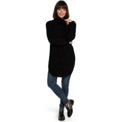 Czarny Wygodny Długi Sweter z Golfem. Czarne golfy damskie Molly.pl, uniwersalny, z jeansu, z długim rękawem. Za 118,90 zł.