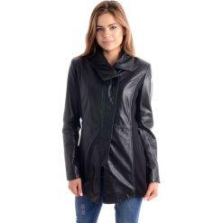 Płaszcz skórzany - LIBERTY LN BL. Czarne płaszcze damskie marki Venezia, l, z poliesteru. Za 499,00 zł.